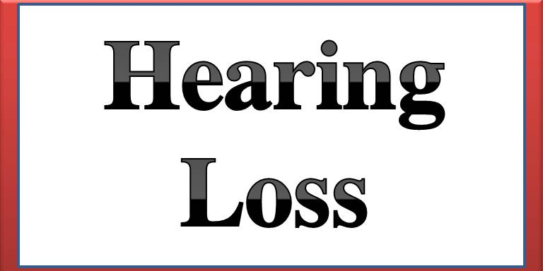 Hearing loss button