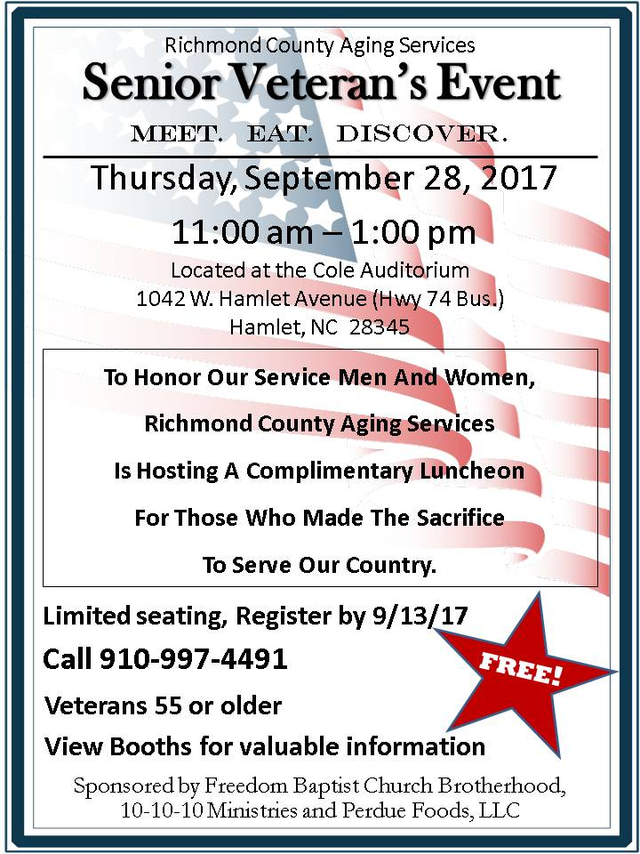 Aging Services- Veterans Event- 9-28-17