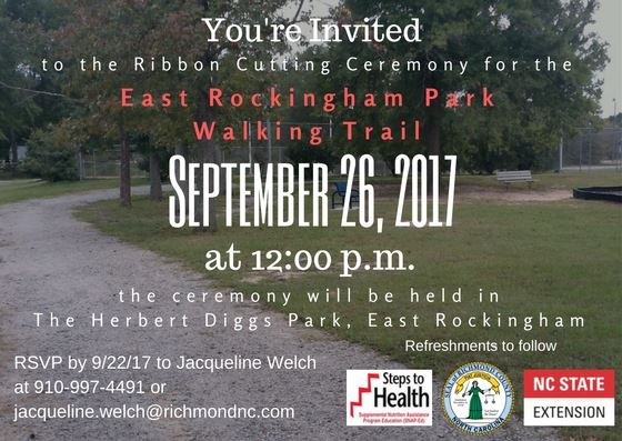 Invitation for ERSC Walking Trail Ribbon Cutting Ceremony 9-26-17