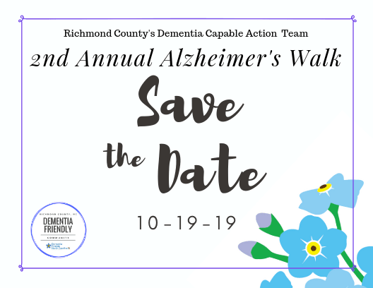 Save the Date- Alz Walk 2019 front side