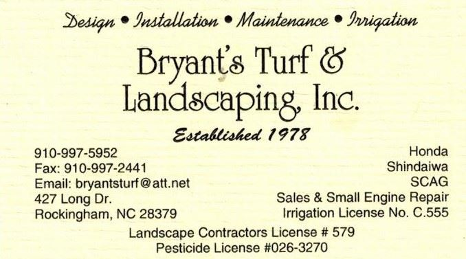 bryants turf