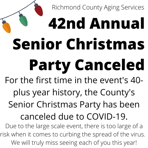 42nd Annual Senior Christmas Party Canceled