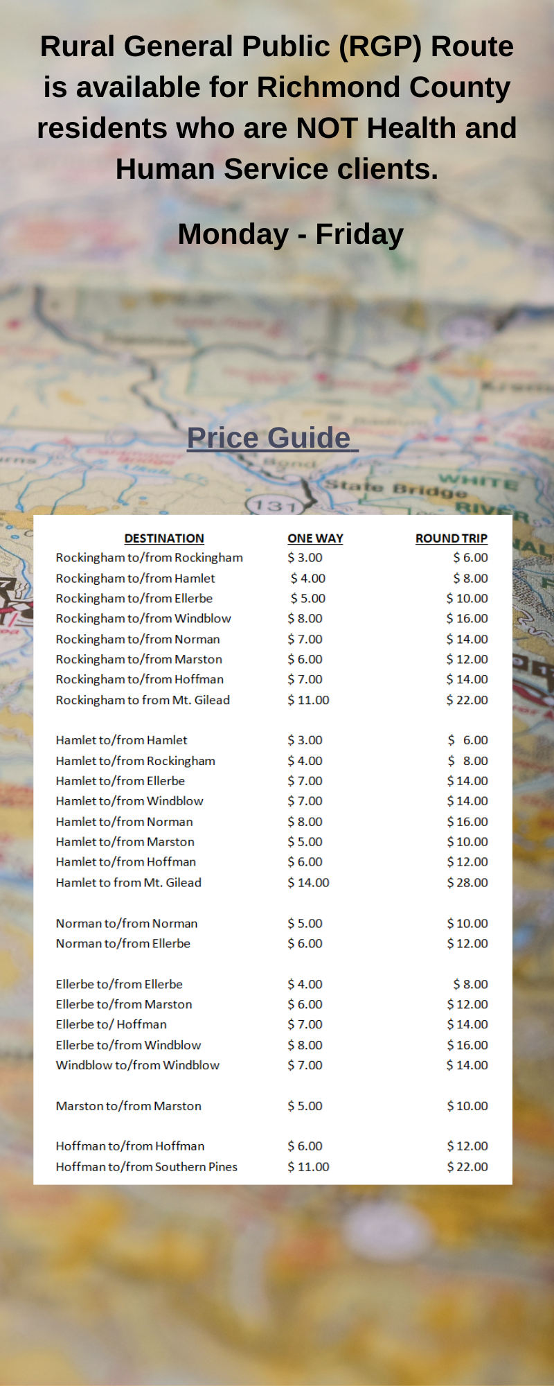 RGP Price Guide
