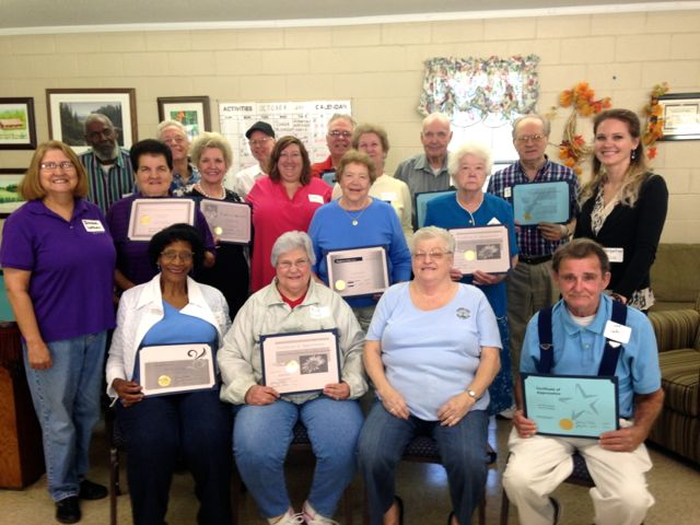 East Rockingham Senior Center Volunteers 10-18-14